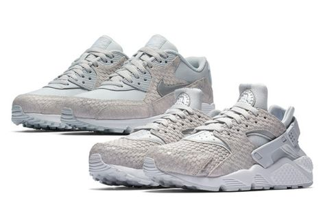 6a681529c662 Pure Platinum Snakeskin Covers The Nike Air Max 90 And Air Huarache ...