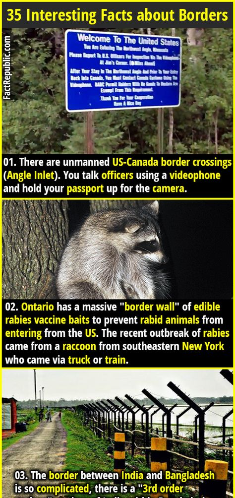 35 Interesting Facts About Borders Fact Republic Funny Facts Mind Blowing Fun Facts Funny Facts