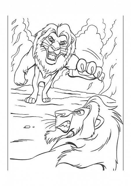 Simba Contro Scar Disegni Da Colorare Gratis Horse Coloring Pages