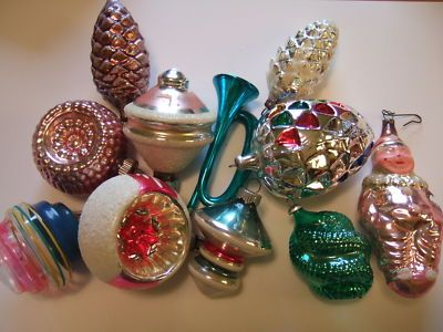 Antique Figural Mercury Glass Christmas Ornaments Christmas Time
