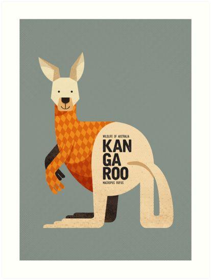 Retro Koala Art Print By Printedsparrow In Oz - Retro Koala Art Print By Printedsparrow April Kangaroo Art Print Wall Art Poster Wildlife Of Australia Series Which Also Includes Wombat Koala Emu And Platypus Nurse