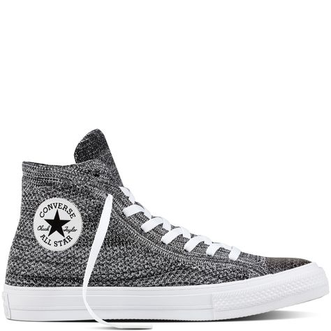 c4de1de0d401 Chuck Taylor All Star X Nike Flyknit Zwart Wolf Grey Wit black wolf grey  white