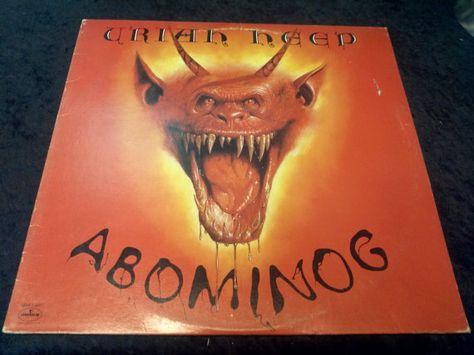 Rare Vintage Uriah Heep Abominog Vinyl By Decrepitudeaplenty 30 00 Uriah Vinyl Vinyl Records