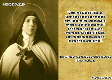Santa Teresa Dos Andes Somos Católicos Santa