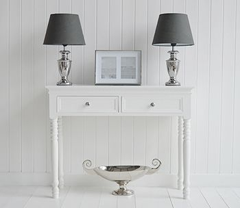 White Living Room Furniture White Console Table Hallway