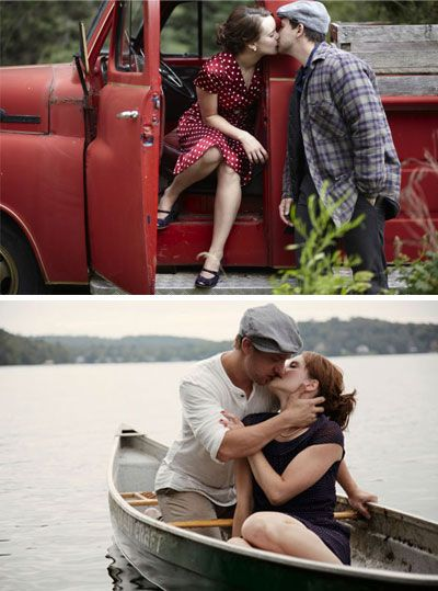 Movie inspired engagement photos (The Notebook)
