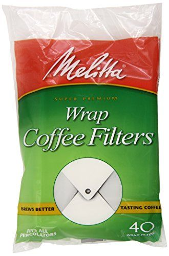melitta coffee filters for percolators, white wrap around, 40-count ...