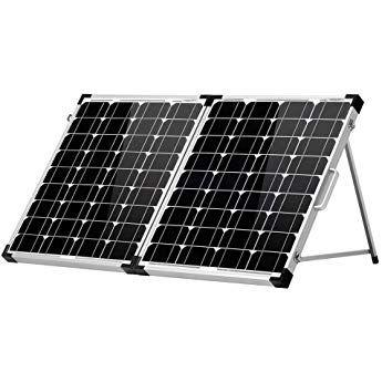 Dokio 100w 50x2 12v Monocrystalline Foldable Solar Panel Solar Panel Charger Solar Panels Monocrystalline Solar Panels