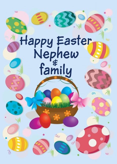 Happy Easter Nephew And Family Easter Eggs Basket Card Ad Ad Nephew Easter Happy Family Happy Easter Easter Egg Basket Family Easter