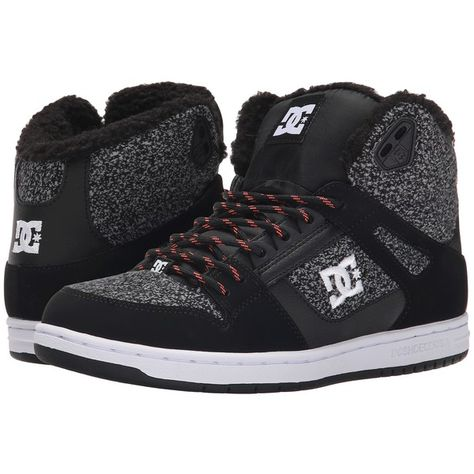 DC Rebound High WNT Women's Skate Shoes (135 PEN) ❤ liked on Polyvore featuring shoes, grey, grey shoes, leather skate shoes, hi top skate shoes, gray shoes and dc shoes