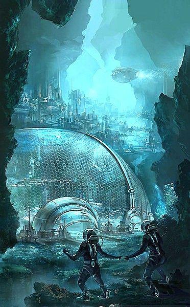 Underwater By Kronicpain Deviantart Com On Deviantart Underwater City Underwater Ruins Underwater