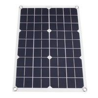 Waterproof 50w 12v 24v Dual Output Usb Port Solar Panel Only Or Solar Panel Kit With Controller 10w 20w 30w