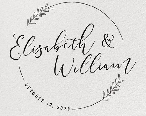 CUSTOM WEDDING STAMP Wedding Stamp Personalized Wedding | Etsy