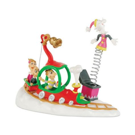 536002e60614 Who s With Their Toys GRINCH Dr Seuss Christmas Snow Village Dept 56  Figurine