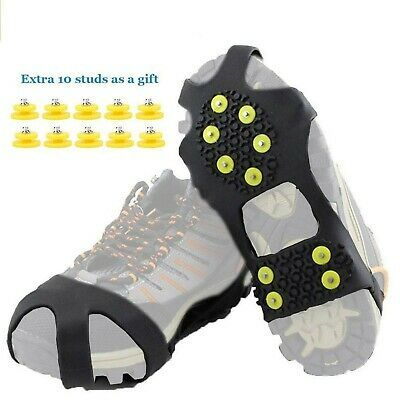 1PR SNOW ICE Rustproof ANTI SLIP GRIPPERS GRIPS CRAMPON FOR SHOE /& BOOTS WINTER