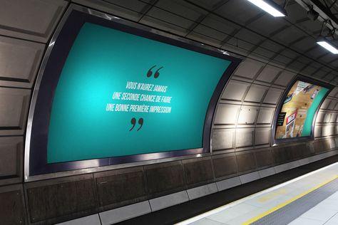 Splendides mockups d'affiches métro à télécharger gratuitement !