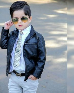 493dc553a130 2018 Children Outerwear Spring   Autumn New baby Boys PU Coats Faux ...