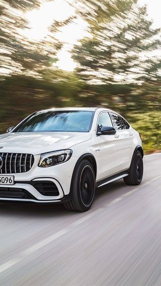 Mercedes Benz Glc63 S Amg 2018 Cars Motion Blur Road White Glc