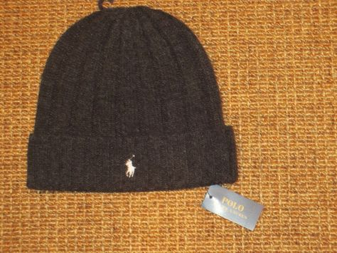 New Polo Ralph Lauren Beanie winter Hat 606338 Pony Logo Blue