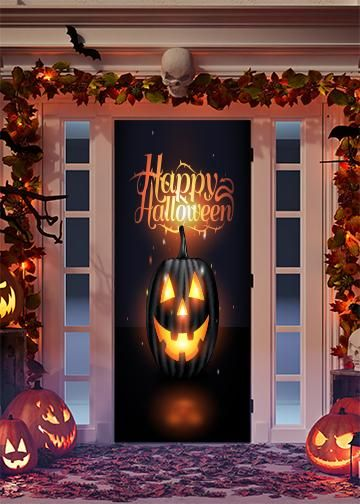 Halloween Door Decorations Fabric Door Wrap Door Decorations Halloween Door Decorations Halloween Door