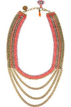 Vanessa Arizaga Mayan Sunrise Gold-Plated Necklace