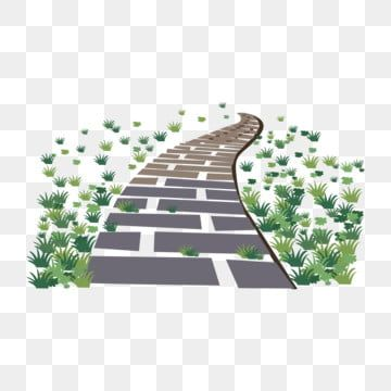 Stone Road Plant Green Meadow Lawn Simple Abstract Illustration Png And Vector With Transparent Background For Free Download Halaman Rumput Taman Bunga Tanaman Hijau