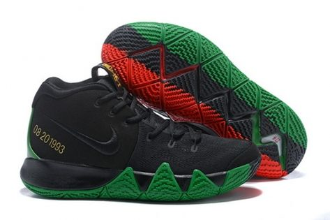 5d1f78b5a436 Best Price Nike Kyrie 4 Black Green Red - Mysecretshoes