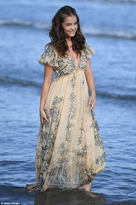 Looking good: Model Barbara Palvin looked superb as she stepped out at 73rd Venice Film Festival, where she was clearly loving life