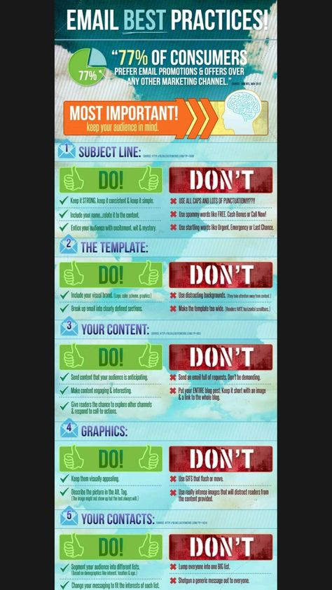Email best practices! do's & don't's