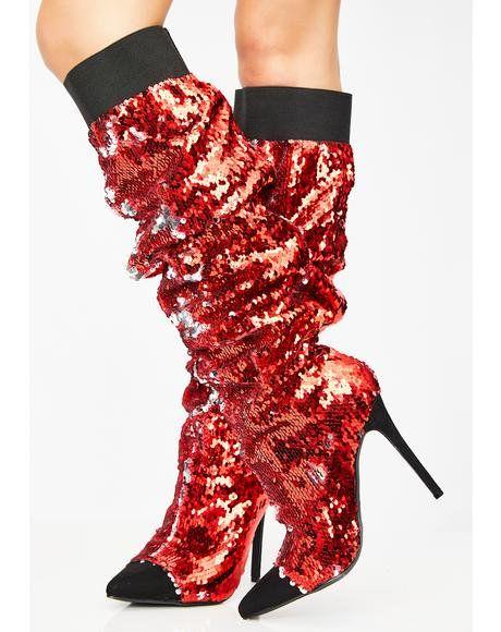 373509c92ba Fire Lavish Living Sequin Boots #dollskill #nye #party #sparkle ...