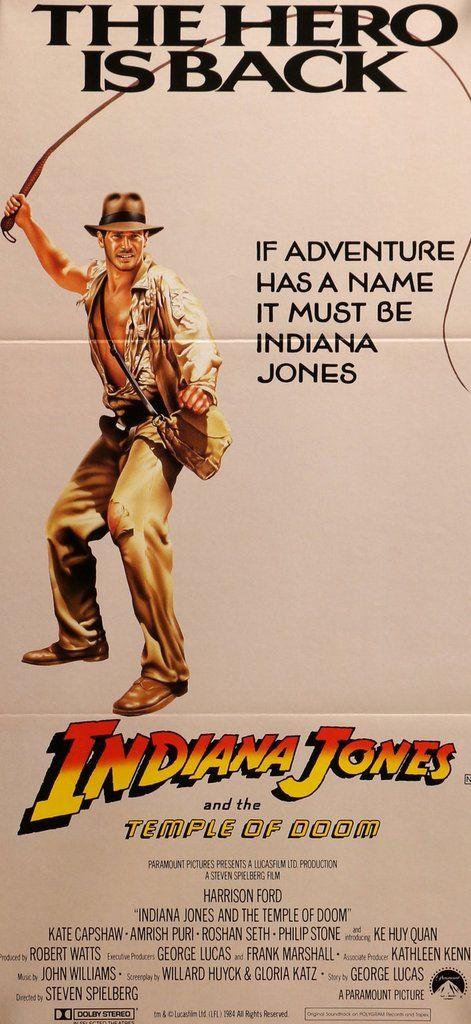 Indiana Jones The Temple Of Doom 1984 Indiana Jones Indiana Jones Films Indiana