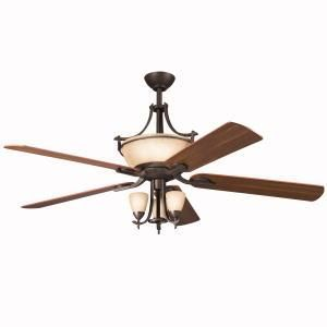 Shop The Best Price On Kichler Contemporary Olympia Ceiling Fan With Remote In Olde Bronze