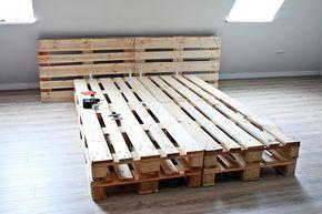 Diy Palettenbett Selber Bauen Palettenbett Selber Bauen Bett Aus Paletten Bauen Palettenbett