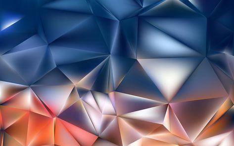 Download imagens triângulos, polígonos, 4k, formas geométricas, geometria, colorido de fundo