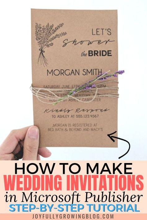 How To Make Wedding Invitations On Microsoft Publisher