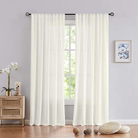 fmfunctex semi sheer curtains for