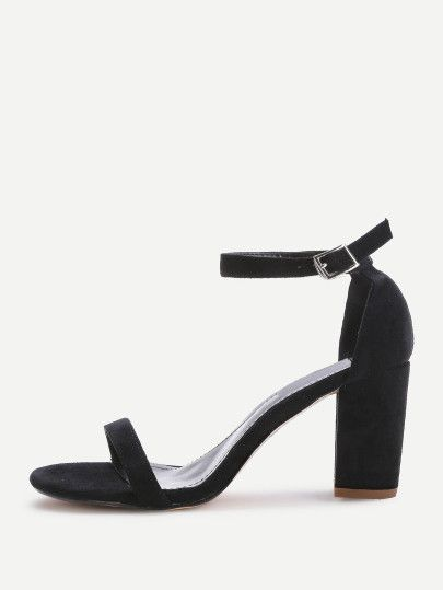 0f404f262ecc Two Part Block Heeled Sandals