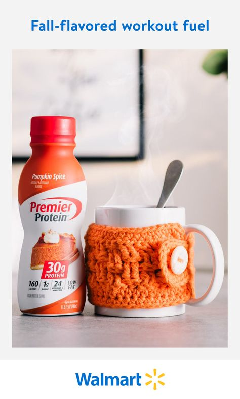 Get a healthy dose of protein, vitamins, minerals, and pumpkin spice flavor with Premier Protein shakes. Available online at Walmart.com. Order a 12-pack for just $23.99. It's perfect to start your day, fuel your workout, or cap off the night.
