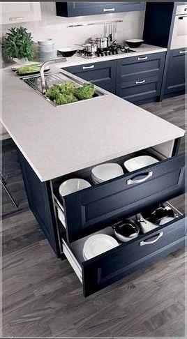 l shaped kitchen with diagonal island. kitchen island ideas ...