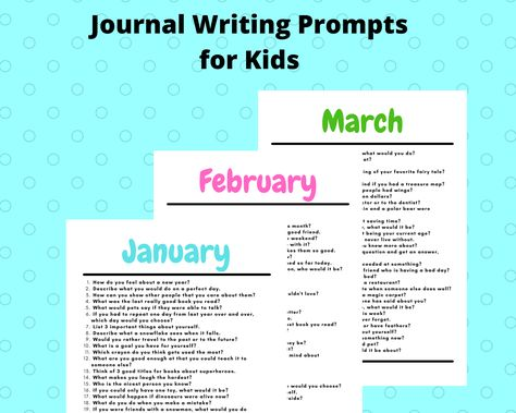 Journal Writing Prompts for Kids Printable