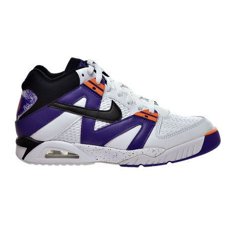 new products f3ab7 5fe0e Nike Air Tech Challenge III Mens Tennis Shoes 8 White Purple 749957 102  Agassi  Nike  Tennis