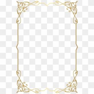 Decorative Frame Border Png Clip Art Image Gallery Gold Floral Border Png Transparent Png Gold Frame Frame Border Design Clip Art