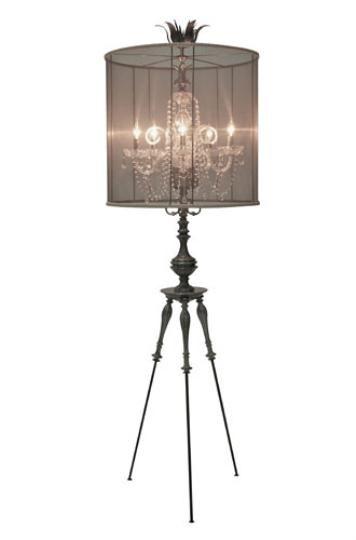 Copper Crystal Tripod Chandelier Floor Lamp World of Decor Piece