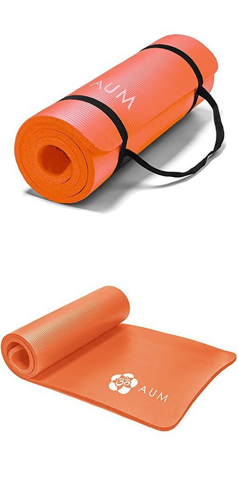 Aum High Density Hd Foam Tech Yoga Exercise Mat 72 X 24 X 1 2 Orange Mat Exercises Yoga Fitness Exercise