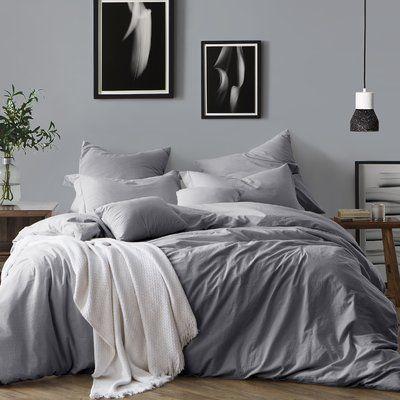 Eider Ivory Coolidge Duvet Cover Set Size King California King 2 Pillow Cases Color Ash Grey Duvet Cover Sets Duvet Covers Bedding Sets