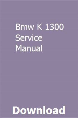 Bmw K 1300 Service Manual Owners Manuals Chilton Manual Car Owners Manuals