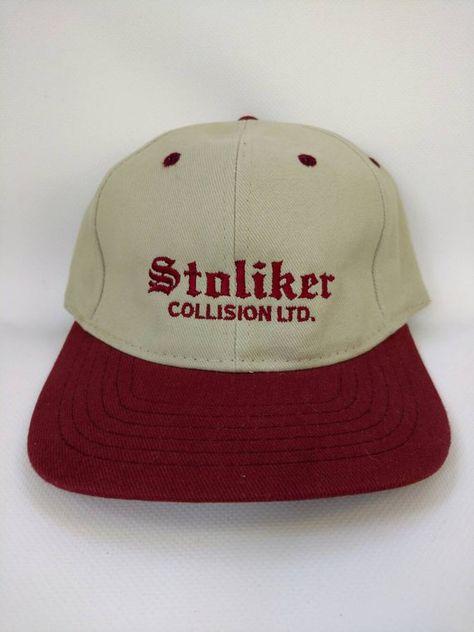 c9b5b91dc90a2 Vintage Trucker Hat Stoliker Collision Ltd Baseball Cap Retro Vintage  Kitchener Ontario Trucking Co