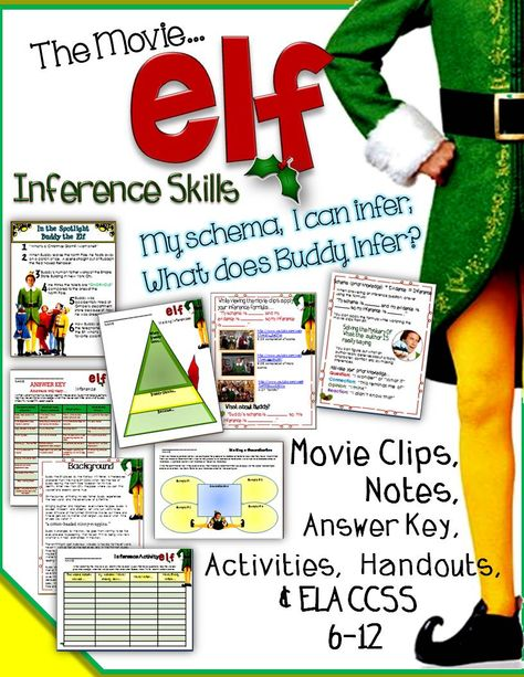 """Elf"" The Movie, Inference Skills Activities, Video Clips, Notes, and Answer Key"