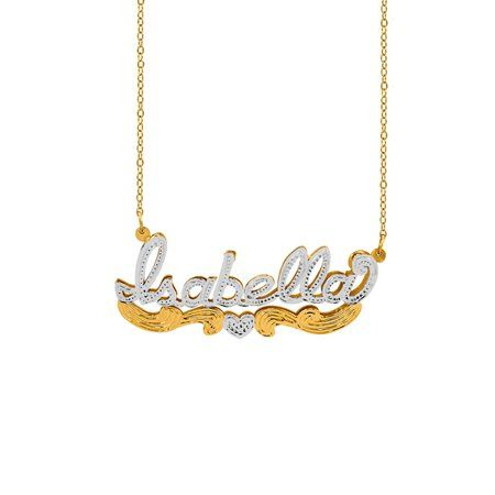 Jewelry Name Necklace Sterling Silver Gold