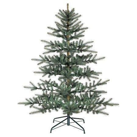 Martha Living Norwegian Spruce Hinged Artificial Tree Christmas Green Holiday Decor